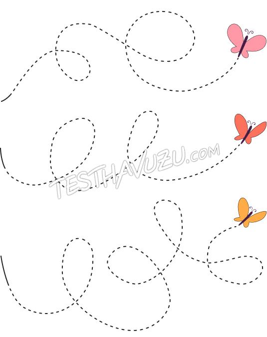 Çizgi Çalışması - Kelebek