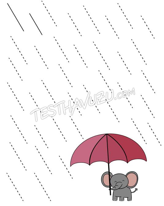 Çizgi Çalışması - Yağmur