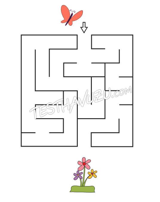 Labirent-Yol Bulma - Kelebek