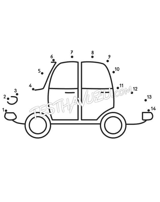 Nokta-Sayı Birleştirme - Araba