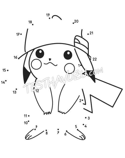 Nokta-Sayı Birleştirme - Pikachu