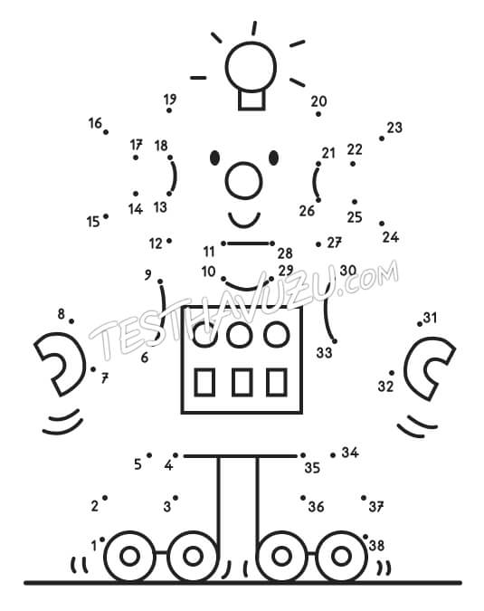 Nokta-Sayı Birleştirme -Robot