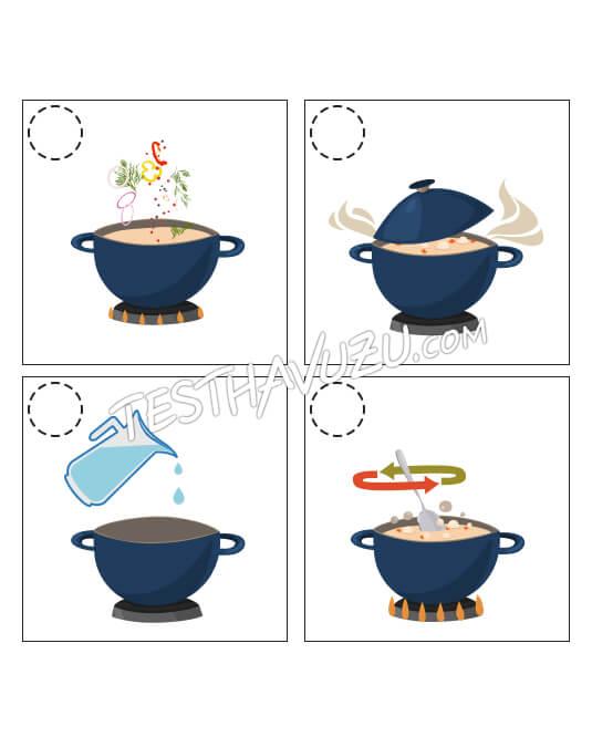 Olay Sıralama - Çorba Yapımı
