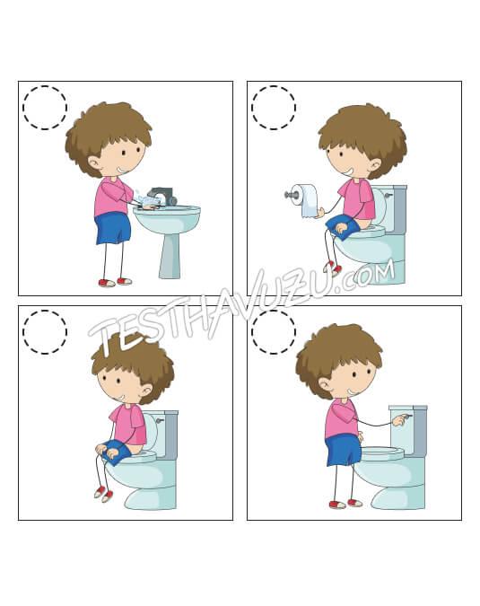 Olay Sıralama - Tuvalet Temizliği