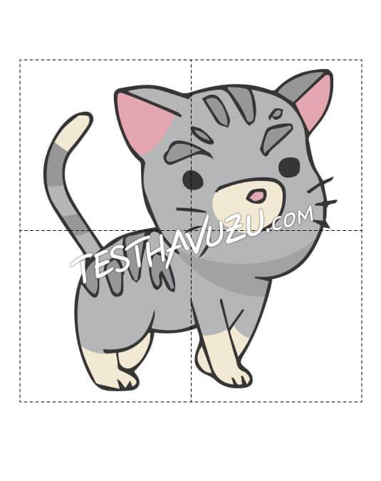 Yapboz Çalışması - Kedi