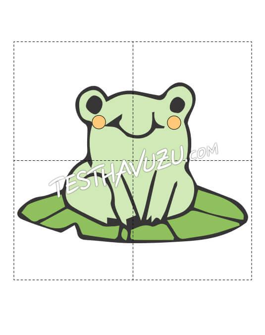 Yapboz Çalışması - Kurbağa