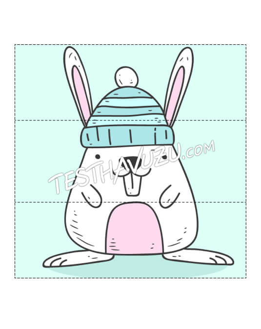 Yapboz Çalışması - Tavşan