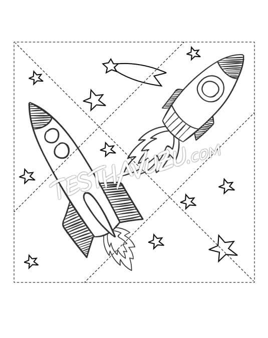 Yapboz Çalışması - Uzay Aracı