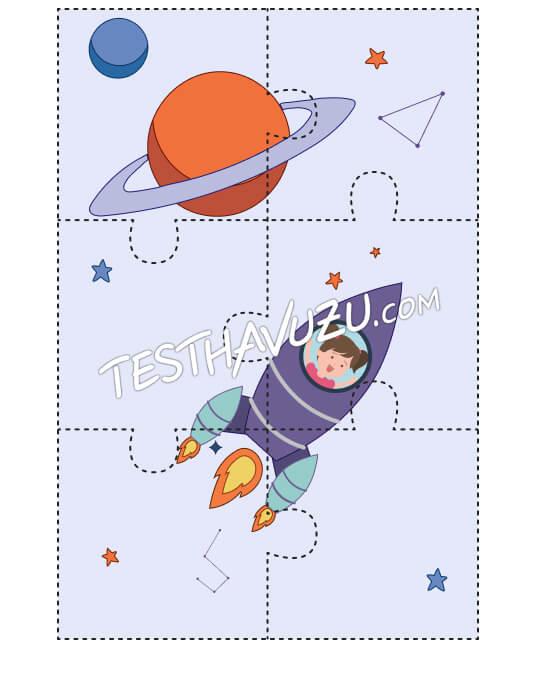 Yapboz Çalışması - Uzay Yolculuğu