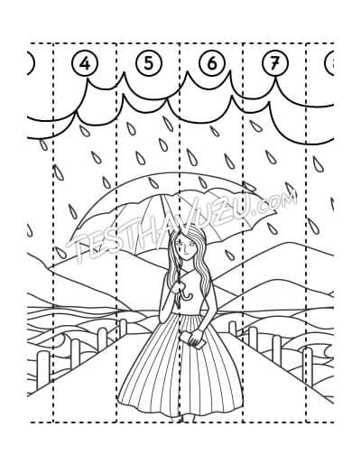 Yapboz Çalışması - Yağmurlu Bir Gün