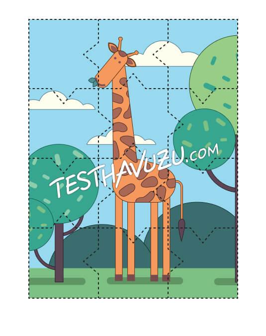 Yapboz Çalışması - Zürafa
