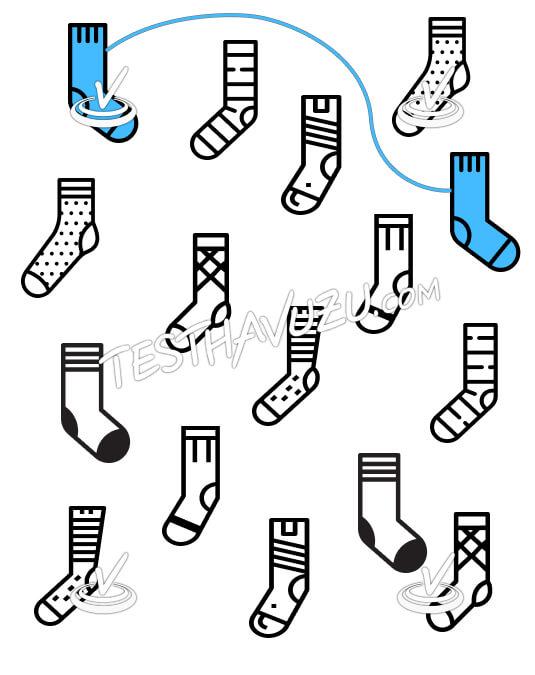 Eşleştirme - Dağınık Çoraplar