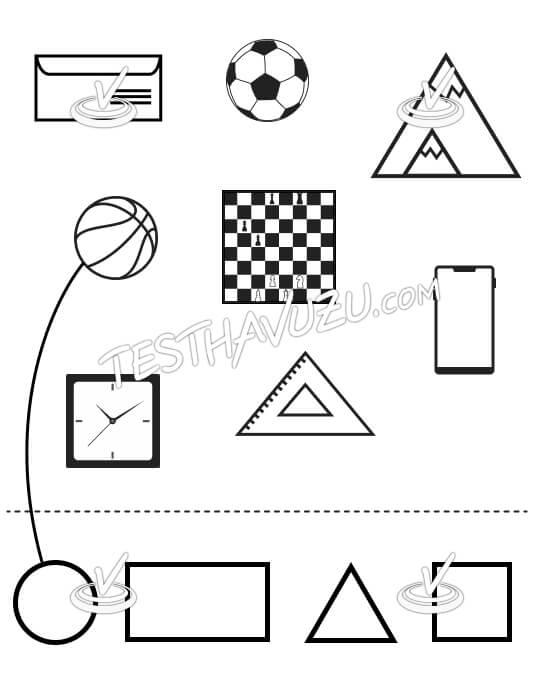 Eşleştirme - Geometrik Şekiller