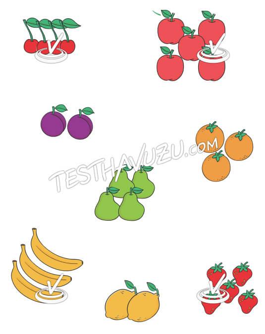 Eşleştirme - Meyveler