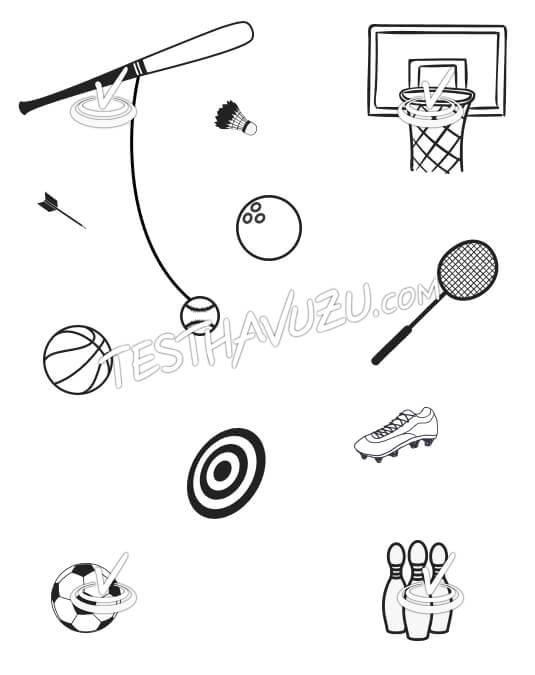 Eşleştirme - Spor Nesneleri