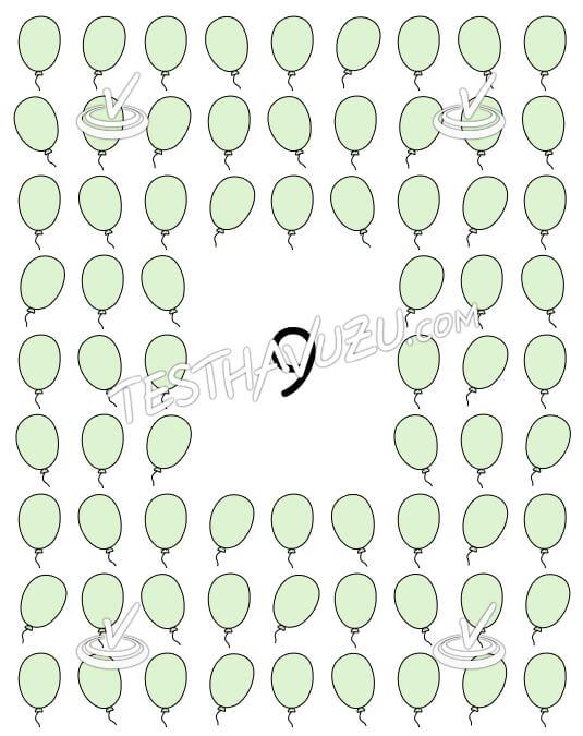 Dokuzarlı Gruplama - Balonlar