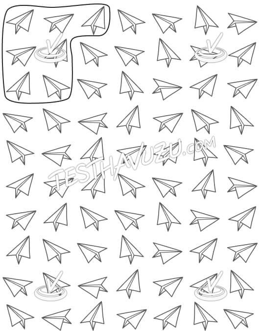 Yedişerli Gruplama - Kağıt Uçaklar