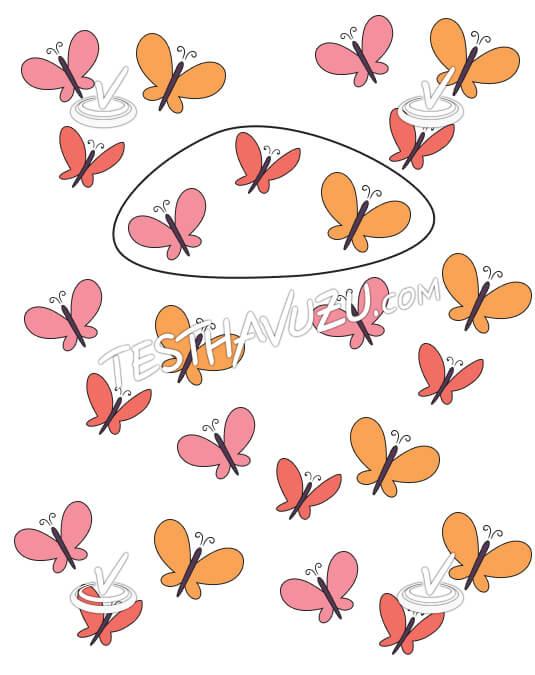 Üçerli Gruplama - Kelebekler
