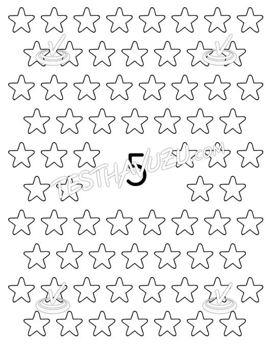 Beşerli Gruplama - Yıldızlar
